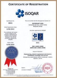 SRPS ISO 14001:2015 – uveden 2011.