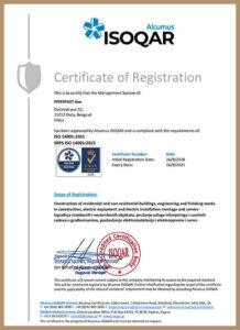 ISO 14001:2015 – uveden 2015