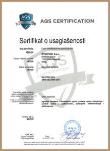 SRPS ISO 27001:2014 – uveden 2013